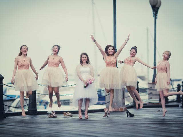 Wedding jump shoot